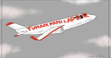 Netizen Soroti Kalimat di Karikatur Pesawat Merah Putih yang Sudjiwo Tedjo Unggah